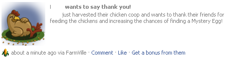 Thanks for feeding chickens