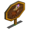 Breakfast Cow Mastery Sign-icon
