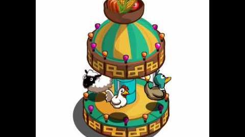 FarmVille Fair Ride Carousel Animal