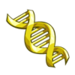Yellow DNA-icon