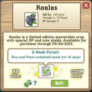 Koalas (crop) Permit Info