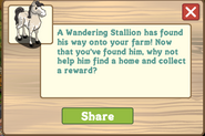 Wandering Stallion New Notification