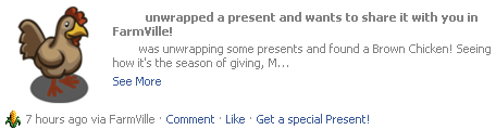 Unwrapped present brown chicken news feed