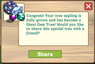 Giant Gem Tree Message