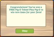 Pig-O Game Free Token Notice