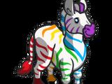 Rainbow Striped Zebra