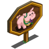 Beaded Pig Mastery Sign-icon