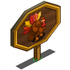 Autumn Plumed Turkey Mastery Sign-icon