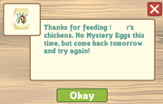 Feed the chicken noegg