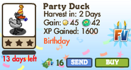 Party Duck II Market Info (June 2012)