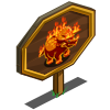 Fire Triceratops Mastery Sign-icon
