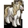 White Gypsy Horse-icon