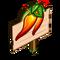 Volcano Chili Pepper Mastery Sign-icon