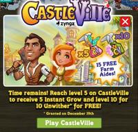 CastleVille Promotion Level 10 Notification