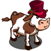 Holiday Top Hat Cow-icon