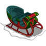 Winter holiday sleigh-icon