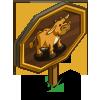 Big Milking Zebu Cow Mastery Sign-icon