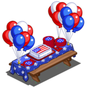 4th of July Picnic Table-icon