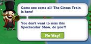 Circus Train Quest Notification