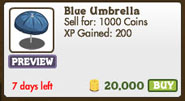 Facebook farmville freak blue umbrella market