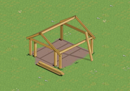 Garage Frame on a farm