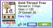 Gold Thread Tree Market Info (July 2012)