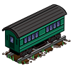 Green Passenger Car-icon