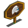Pied Peacock Mastery Sign-icon