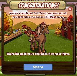 Fall Festival Bonus Reward Message