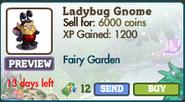 Ladybug Gnome Market Info (August 2012)