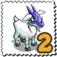 Devils Mask Goat Stamp-icon
