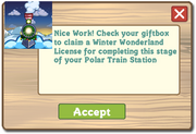 Winter Wonderland Free License Notification