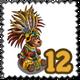 Jaguar Warrior Bear Stamp-icon