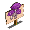 Purple Toadstool Mastery Sign-icon