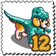 Raptor Dog Stamp-icon