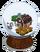 Winter snow globe-icon