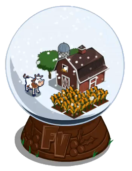 Winter snow globe-icon