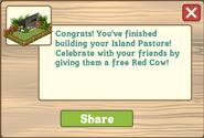 Island Pasture Finished Share Reward