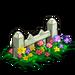 White Flower Picket Fence-icon