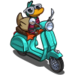 Duck on a Scooter-icon