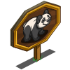 Cute Panda Mastery Sign-icon