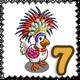 Festive Chicken Stamp-icon