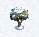 Peach tree under snow and lights2