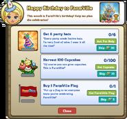 Happy Birthday to FarmVille Mission