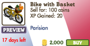 Bike with Basket Market Info