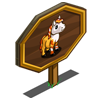 Mini Candy Corn Horse Mastery Sign-icon