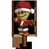 Winter santa scarecrow-icon