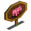 Hot Pink Pig Mastery Sign-icon