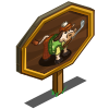 Golfer Cow Mastery Sign-icon