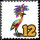 Rainbow Crane Stamp-icon